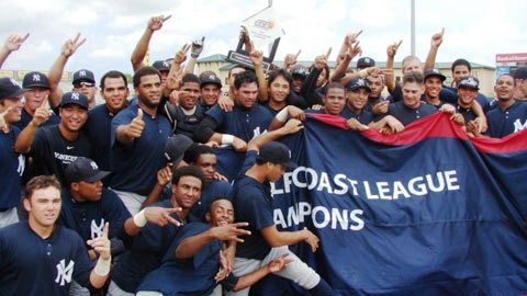 The Yankees celebrate their first GCL title since 2007.